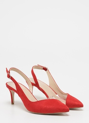 D by Divarese Topuklu Ayakkabı Kırmızı